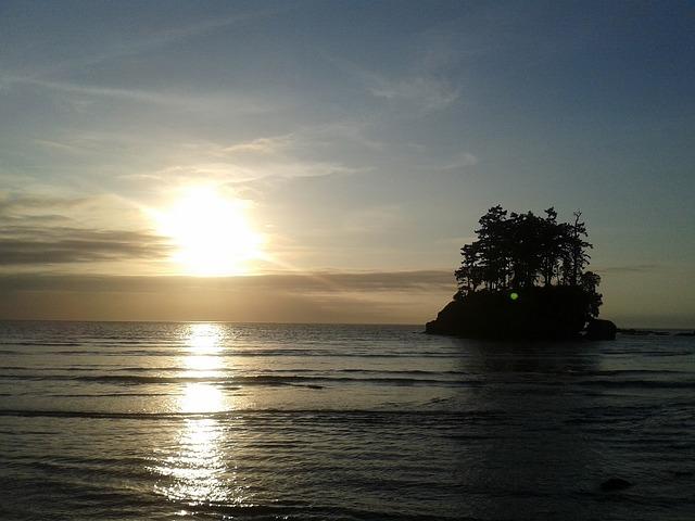 île coucher de soleil, island sunset