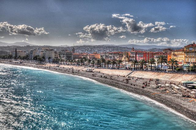La côte de Nice