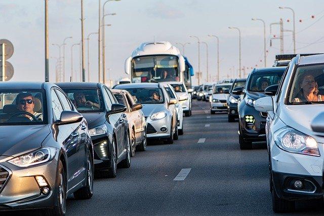 Embouteillage sur l'autoroute vers Monaco.
