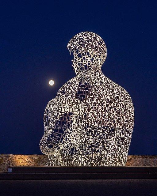 Sculpture in Antibes.
