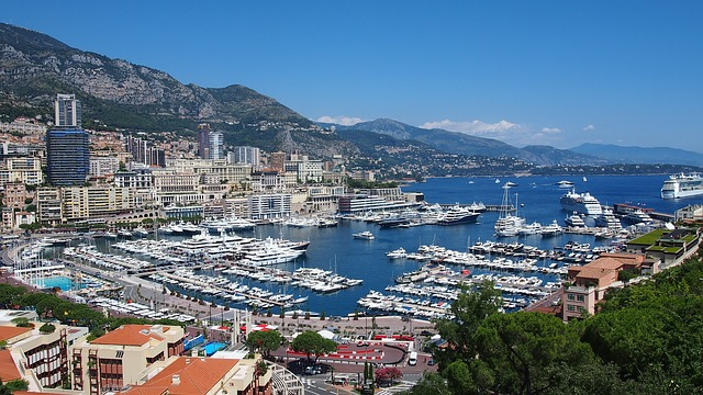 View of Monaco's port Hercule.