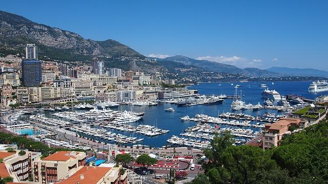 View of Monaco's port Hercule.