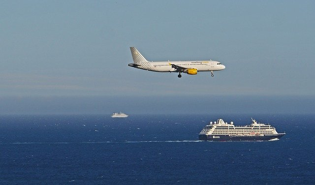 Landing in Nice airport.