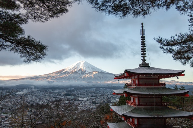 View of Japan temple.